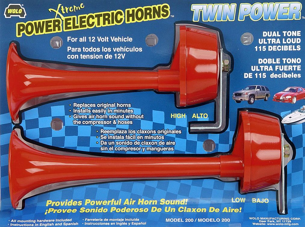 Wolo electric horns for cars trucks boats rv s and motorcycles