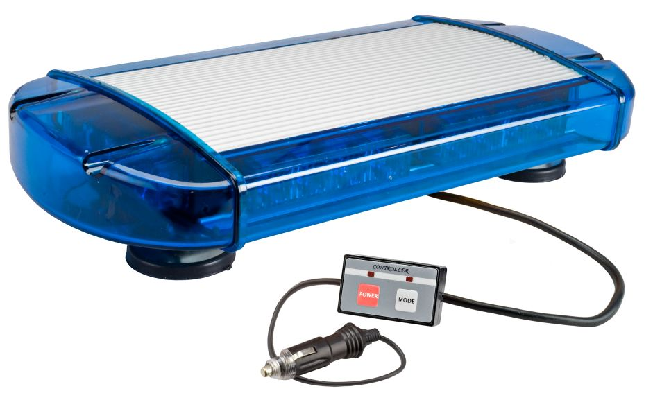 Wolo mini light bar halogen strobe led click to enlarge picture of model 3775m b blue aloadofball Images
