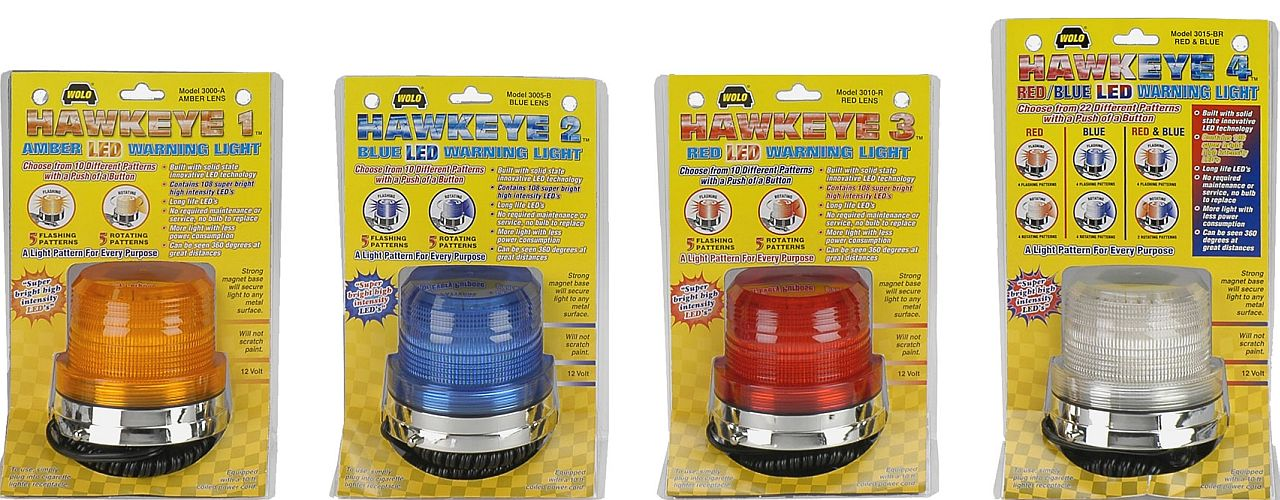 WOLO MFG. CORP. VEHICLE WARNING LIGHTS; HALOGEN, STROBE & LED